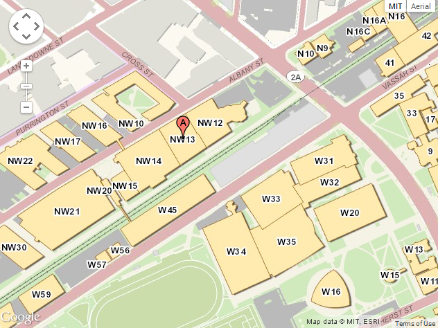 NW13 on MIT's Map